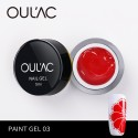 PAINT GEL 03 RED COLOR